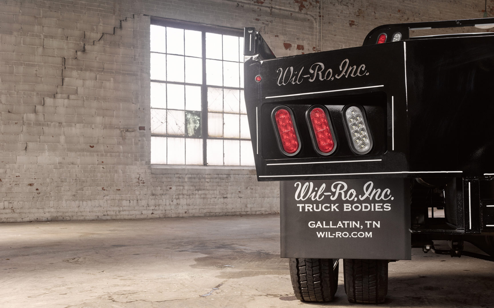 Rear Taillights of Wil-Ro Truck